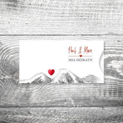Hochzeit Bergherzl | Einsteckkarten Set
