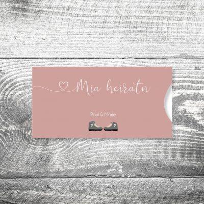 Hochzeit Bergschuhe | Einsteckkarten Set