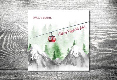 kartlerei bayrische einladungskarten hochzeitseinladung hochzeit bergliebe berge 400x275 - Trachtenhochzeit