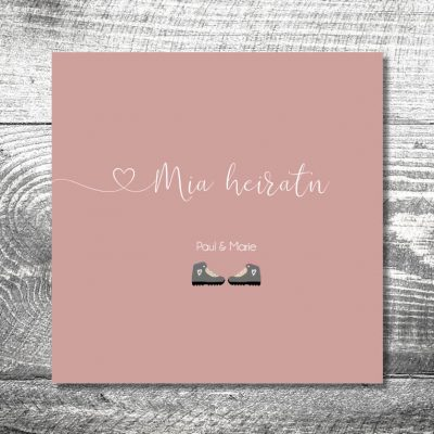 Hochzeit Bergschuhe | 6-Seitig
