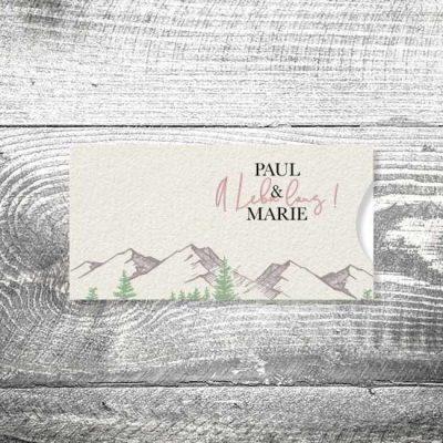 Hochzeit A Lebn lang | Einsteckkarten Set