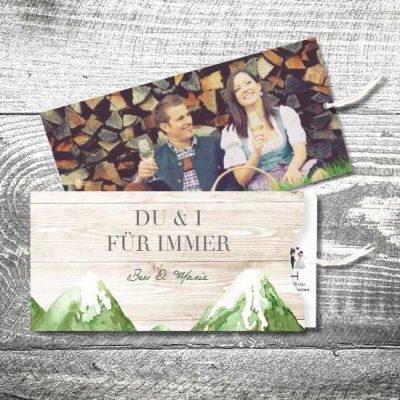 Hochzeit Bergliebe Sommer | Einsteckkarten Set