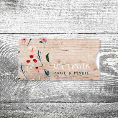 Hochzeit Blütenliebe | Einsteckkarten Set