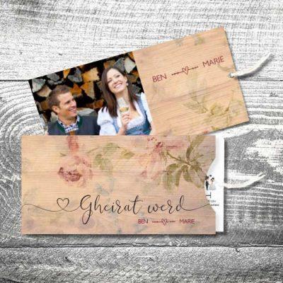 Hochzeit Floralholz Sommer | Einsteckkarten Set