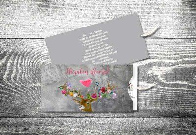 kartlerei einsteckkarten bayrische hochzeitseinladung flower power hirsch 400x275 - Trachtenhochzeit