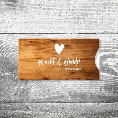 Hochzeit Gsucht & Gfundn | Einsteckkarten Set