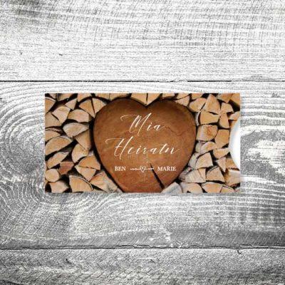 Hochzeit Herzchenstapel   Einsteckkarten Set