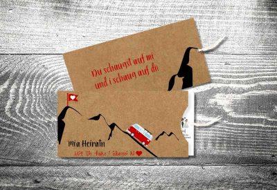 kartlerei einsteckkarten bayrische hochzeitseinladung kraftpapier rosi 400x275 - Trachtenhochzeit