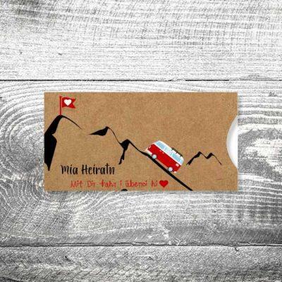 Hochzeit Foto Rosi Kraftpapier   Einsteckkarten Set