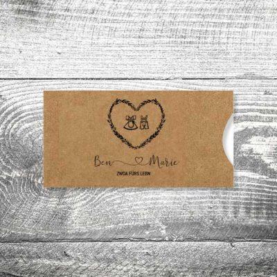 Hochzeit Tracht Kraftpapier | Einsteckkarten Set